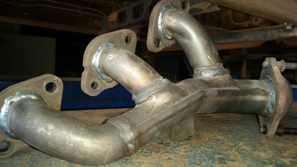 '99 - '05 Ford Mustangs equipped with the V6 motor have a tendency to break their exhaust manifolds. We can repair those in our shop. Look closely to see the difference between the before and after photos.