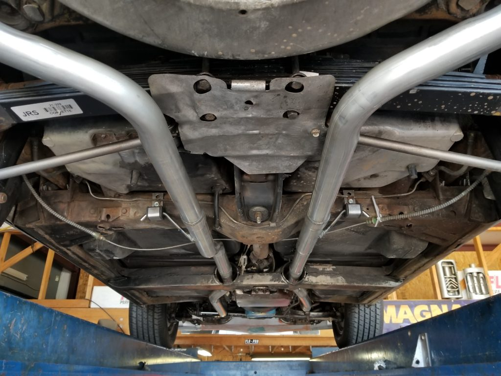 L-81 Corvette that the customer requested a quiet, yet high flow exhaust system. This is why we build our own exhaust systems, the aftermarket systems that would accomplish a similar feat simply do not fit correctly.